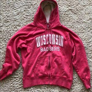 Vintage Wisconsin badgers zip up hoodie